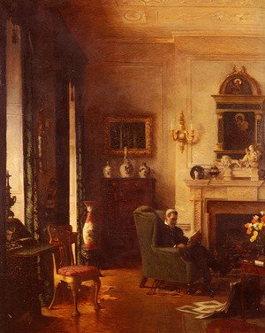 Famous paintings of Paintings of paintings: The Grey Drawing-Room
