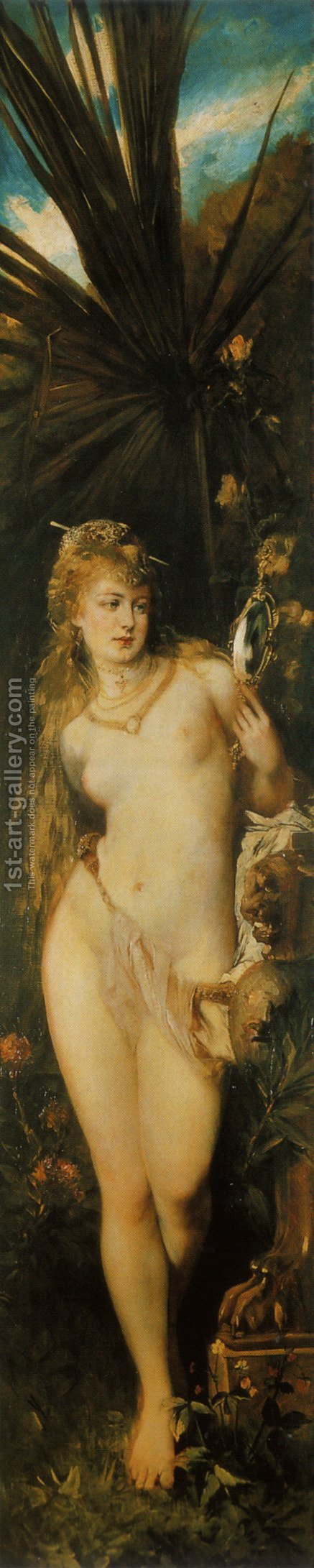 Die Fünf Sinne: Gesicht (The Five Senses: Seeing) by Hans Makart - Reproduction Oil Painting