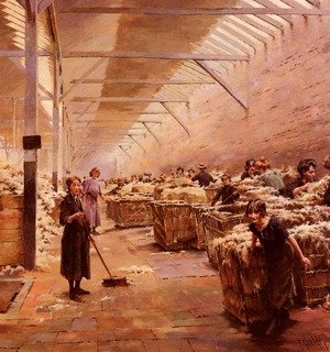 Reproduction oil paintings - Joseph Ferdinand Gueldry - La Grange Des Lainieres (The Wool Shed)