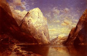 Famous paintings of Ships & Boats: A Norwegian Fjord