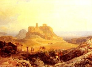 Thomas Ender reproductions - The Acropolis, Athens