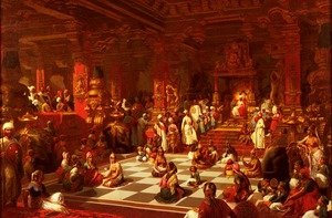 Reproduction oil paintings - Henri Pierre Picou - Jeu D'Echecs Indien (Indian Chess Set)