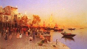 Famous paintings of Ports: An Italian Port