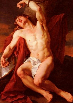 Rococo painting reproductions: Le Martyre De Saint-Sebastien (The Martyrdom of Saint Sebastian)