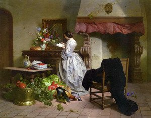 David Emil Joseph de Noter reproductions - La Lecture