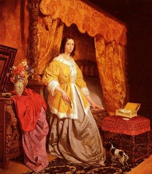 Famous paintings of Furniture: Les Lettres D'Amour (Love Letters)