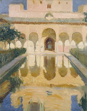 Famous paintings of Pools: Hall of the Ambassadors, Alhambra, Granada