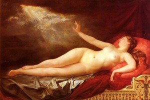 Famous paintings of Furniture: Danae Sous L'Ondee D'Or (Danae and the Golden Shower)