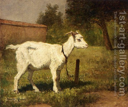 A Goat In A Meadow by Henriette Ronner-Knip - Reproduction Oil Painting