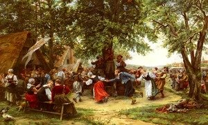 Famous paintings of Villages: The Village Festival