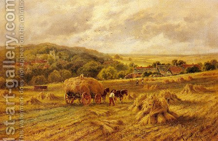 Harvest Time, Lambourne, Berks by Henry Hillier Parker - Reproduction Oil Painting