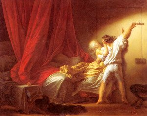 Reproduction oil paintings - Jean-Honore Fragonard - Le Verrou (The Bolt)