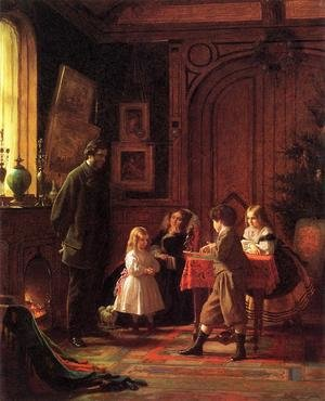 Famous paintings of Christmas: Christmas-Time, The Blodgett Family