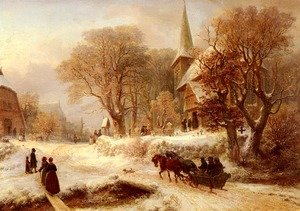 Famous paintings of Villages: Die Hammer Kirche