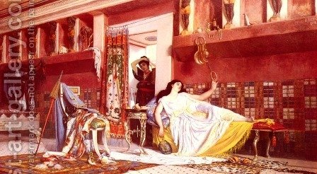 In The Boudoir by Anatolio Scifoni - Reproduction Oil Painting