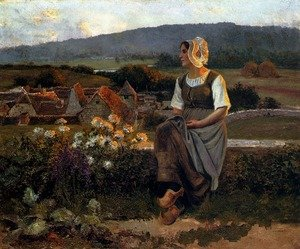 Famous paintings of Villages: A Pensive Moment