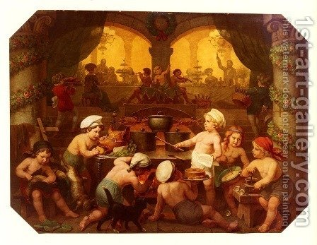 Das Grosse Festmahl (The Great Banquet) by Hans Brunner - Reproduction Oil Painting