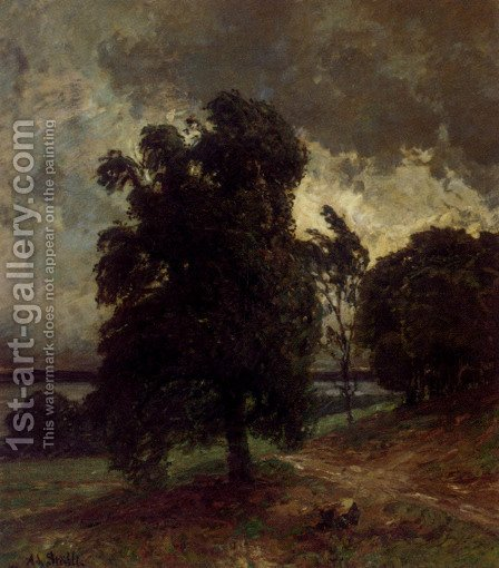 Before The Storm by Adolf Stabli - Reproduction Oil Painting