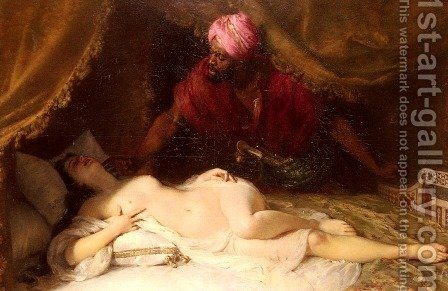Othello And Desdemona by Adolphe Weisz - Reproduction Oil Painting
