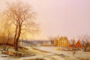 Frederik Michael Fabritius de Tengnagel reproductions - A Winter Landscape