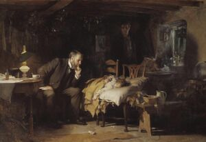 Famous paintings of Interiors: The Doctor