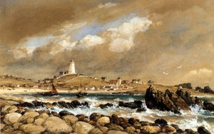 Famous paintings of Villages: View Of St. Agnes, Scilly Isles