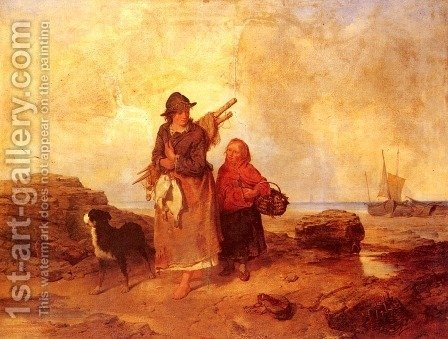 Fisherfolk by Isaac Henzell - Reproduction Oil Painting