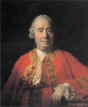 Famous paintings of Men: Portrait of David Hume