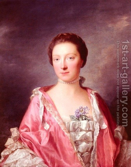 Portrait Of Elizabeth Gunning, Duchess Of Argyll by Allan Ramsay - Reproduction Oil Painting
