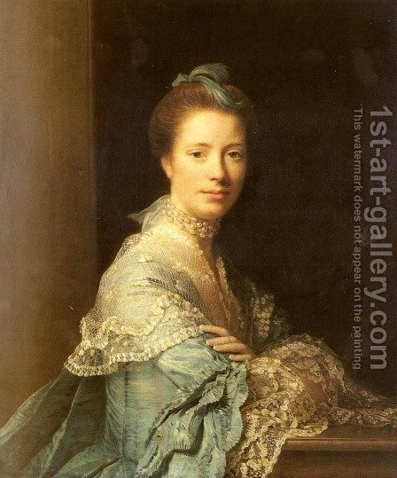 Portrait Of Jean Abercromby, Mrs Morison by Allan Ramsay - Reproduction Oil Painting
