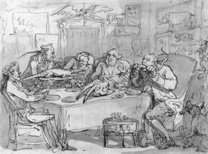 Reproduction oil paintings - Thomas Rowlandson - The Fish Dinner