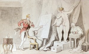 Reproduction oil paintings - Thomas Rowlandson - A Study In Life Drawing