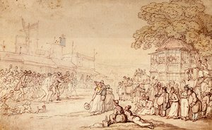 Reproduction oil paintings - Thomas Rowlandson - Captain Barclay's Rally Match