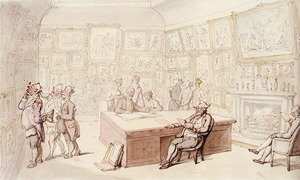 Reproduction oil paintings - Thomas Rowlandson - Mr Michell's Picture Gallery At Grove House, Enfield