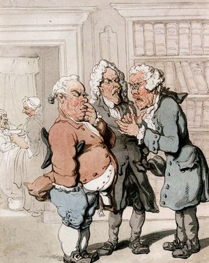 Reproduction oil paintings - Thomas Rowlandson - The Doctor's Consultation