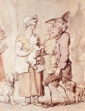 Reproduction oil paintings - Thomas Rowlandson - The Sick Dog