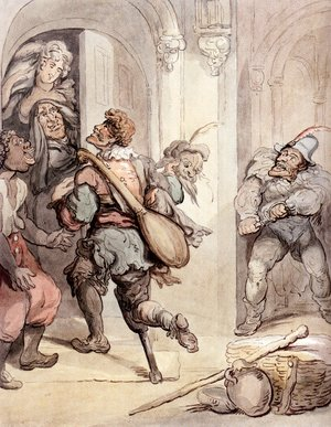 Reproduction oil paintings - Thomas Rowlandson - Travelling Players