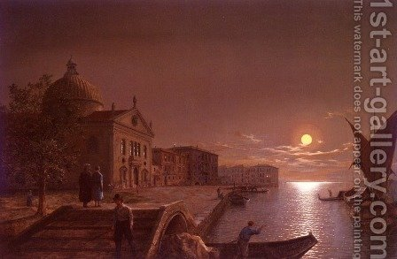 Moonlight In Venice by Henry Pether - Reproduction Oil Painting
