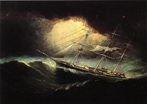 Famous paintings of Ships & Boats: Ship In A Storm