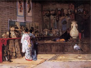 Famous paintings of Markets: At the Japanese Market