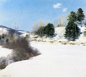 Reproduction oil paintings - Willard Leroy Metcalf - Hush of Winter