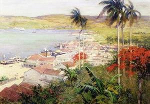 Reproduction oil paintings - Willard Leroy Metcalf - Havana Harbor