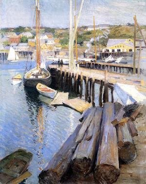 Reproduction oil paintings - Willard Leroy Metcalf - Fish Wharves - Gloucester