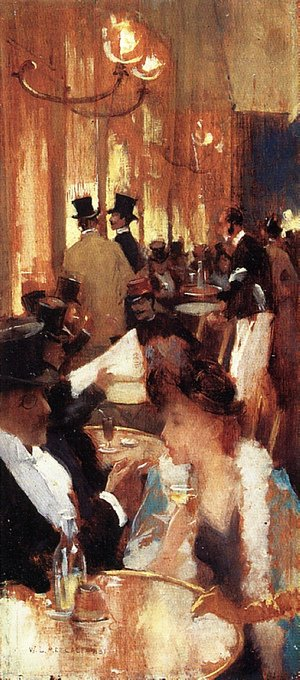 Reproduction oil paintings - Willard Leroy Metcalf - Au Café (At the Café)