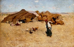 Willard Leroy Metcalf reproductions - Arab encampment, Biskra