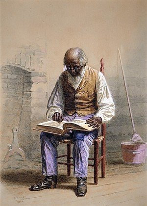 Famous paintings of Black Art: Reading the Scriptures