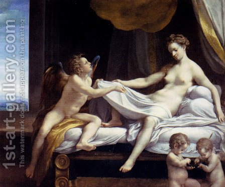 Jupiter and Io by Correggio (Antonio Allegri) - Reproduction Oil Painting