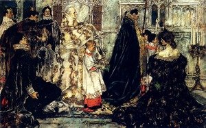 Famous paintings of Christmas: A Medieval Christmas--The Procession