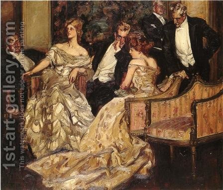 Three Is A Crowd by Albert B. Wenzell - Reproduction Oil Painting