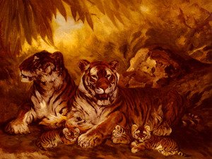 Famous paintings of Rainforests & Jungles: Masters of the Jungle
